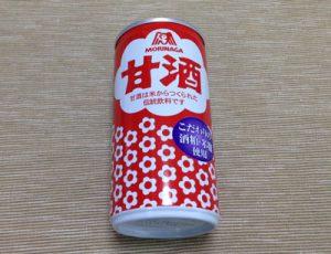 森永の甘酒の缶