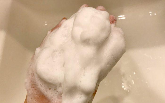 白樺樹液とハーブの手練り石けん 泡立て