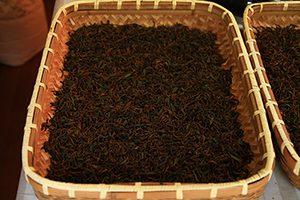 発酵した茶葉