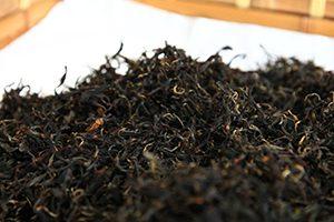 完成した紅茶の茶葉